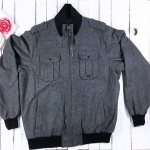 Sean John Zip Up Stylish Wool Bomber Jacket 3XL